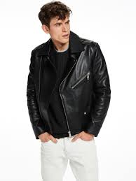 Leather Biker Jacket | Leather Jackets | Men Clothing at Scotch & Soda & Men Leather Biker Jacket ... Adamdwight.com