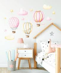 hot air balloon nursery wall decal