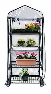 shelving double pack gardman r687 4 tier mini greenhouse 27 long x 18 wide 63 high