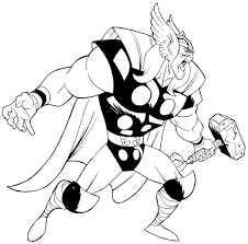 Small Picture Printable Thor Coloring Pages EasyThorPrintable Coloring Pages