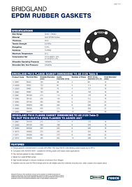Bridgland Epdm Rubber Gaskets