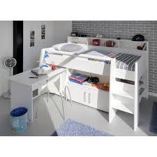 kids beds with storage and desk. Simple Kids KidsWhiteSwanMidsleeperSingleBedWithDesk In Kids Beds With Storage And Desk I