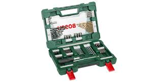 <b>V</b>-<b>Line</b> Drill- and Screwdriver Bit Set Titanium <b>91</b> pieces with ratchet ...