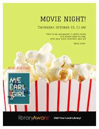 movie night flyer template library ideas night movie night flyer template