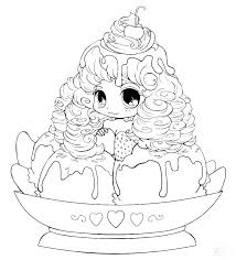 Cute Anime Coloring Page Pages For Kids Free Pag Thebiggestloserinfo