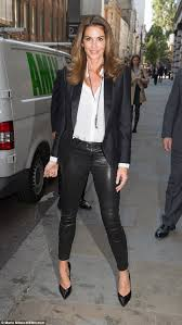 daywear chic cindy stunned earlier on friday as she attended a signing in london