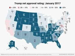 Trumps Approval Rating Chart Heres How Trumps Approval Ratings Have Changed In Each