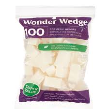 cosmetic wedges made in usa makeup sponges from wonder wedge 100 count walmart