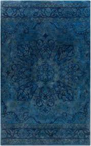 overdyed navy blue cobalt blue and teal wool rug yarn overdyed blue wool rug