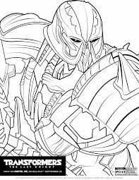 Transformers The Last Knight Coloring Pages The Review Wire