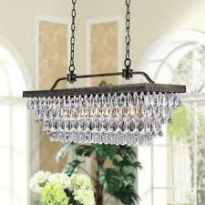 b041 fd 493 antique copper 4 light rectangular crystal chandelier elegant chandeliersdining room