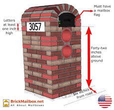 brick mailbox flag. Delighful Brick A Curbside Mailboxes Regulations Throughout Brick Mailbox Flag