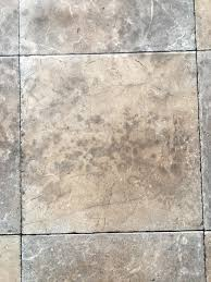 question removing mold stains from linoleum floor