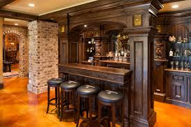 Elegant English Country Home traditional-home-bar