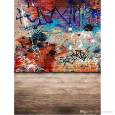ful painted old brick wall graffiti backdrop for photography kids children photo studio backgrounds hintergrund fotografie from backdropsfactory