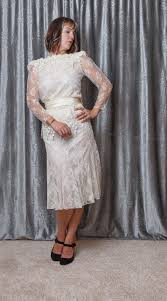 Patra Dress Size Chart Patra 1980s Cream Lace Wedding Dress Size 5 6 Satin Belt Pleated Skirt Below Knee Long Sleeves W Puffs And Shoulder Pads Classic Vintage