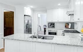 granite kitchen countertops with white cabinets. Countertops For White Cabinets Kitchen With Alpha Granite  Gray Quartz .