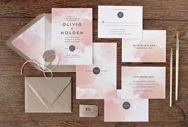 Wedding Invitations Watercolor Watercolor Wedding Invitations Mywedding