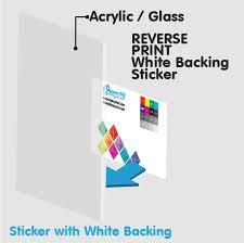 reverse print sticker