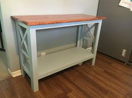 rustic style furniture. a simple rustic style console table i built this using 1 furniture