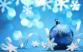 Christmas Blue Wallpapers - Wallpaper Cave