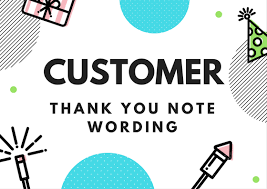 Thank You Note For Money Fascinating Customer Thank You Archives Thank You Note Wording