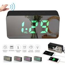 Digital Colorful RGB LED Mirror Alarm Clock USB/Battery ... - Vova