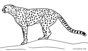 cheetah coloring pictures. Unique Coloring Cheetah Print Coloring Pages For Pictures E