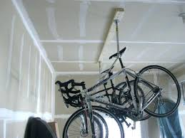 how to hang bikes in garage medium size of hang bike from ceiling or wall homemade