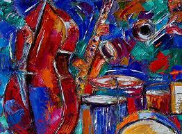 abstract jazz art painting paintings by debra hurd