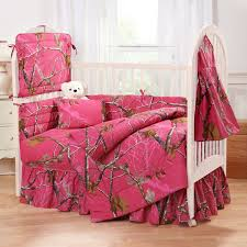 pink camouflage crib bedding sets realtree hot fuchsia camo set