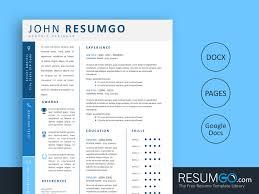 Modern Resume For Freshmen Korinna Blue Modern Resume Template Resumgo Com