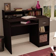 cool desks for teenagers. Contemporary For Dark Brown Wooden Desk With Shelves And Single Drawer Also On  The Counter Top Placed In Cool Desks For Teenagers R