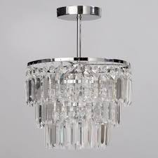 ip rated bathroom big semi flush chandelier light