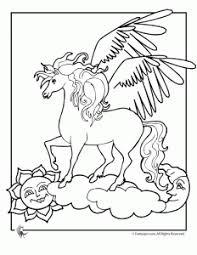 Unicorn Pegasus Coloring Pages Woo Jr Kids Activities