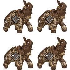 <b>Набор фигурок</b> декоративных <b>Lefard</b>, <b>Слон</b>, 6,5*3,5*7 см, 4 ...