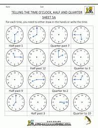 Kids : Telling Time Worksheet Free Kindergarten Math For Kids ...