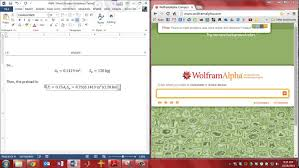 word equation editor to wolfram alpha easy units