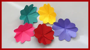 Flower Paper Craft How To Make Simple Paper Flowers Easy Paper Crafts For Kids