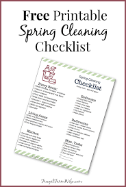 Spring Cleaning Checklist The Frugal Farm Wife