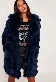faux fur coats and jackets navy bubble faux fur coat faux fur coats jackets river island faux fur coats