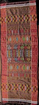indonesia batak ulos colorful hand woven beaded shoulder cloth from the batak people