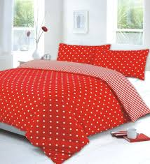 polka dot duvet cover red double large size