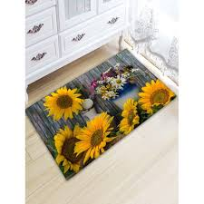 sunflower board print indoor outdoor area rug colormix w20 inch l31 5 inch