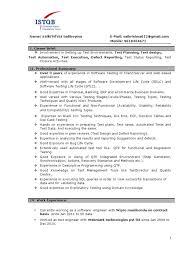 5 Years Testing Experience Resume Format 2 Resume Format Resume