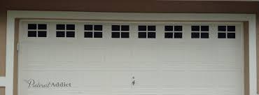 faux carriage garage door windows complete