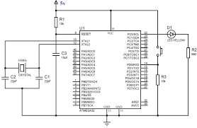 using push button switch atmega32 microcontroller atmel studio circuit diagram using push button switch atmega32 using atmel studio