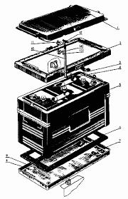 Электрооборудование трактора мтз Реферат страница Помощь  Схема аккумуляторной батареи