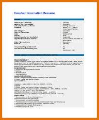 9 10 Sample Journalism Resumes Juliasrestaurantnj Com