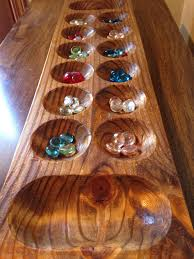 Game With Stones And Wooden Board Mancala Wooden Large Game Board Pine Wood African Gem Stone 33